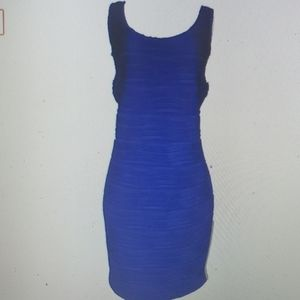 NY Collection Dress 1X Textured New royal blue